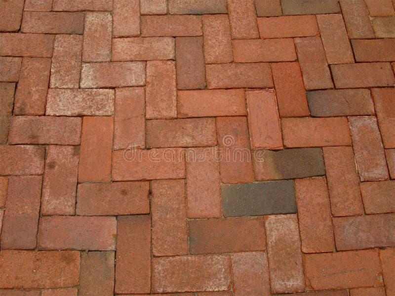 Red-brick-sidewalk stock photo