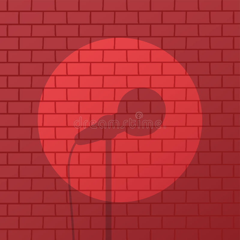 Free Red Brick Spotlight Stand Up Comedy Stage Stock Photo - 92286400