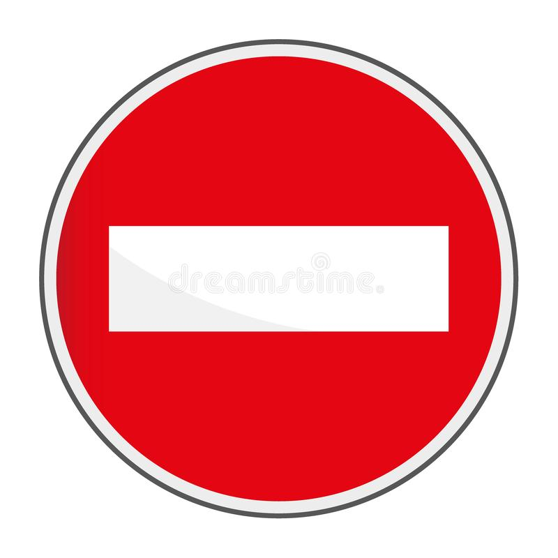 Red brick stop caution warning alert sign vector illustration, isolated on white background. Be careful, do not symbol and web stock illustration