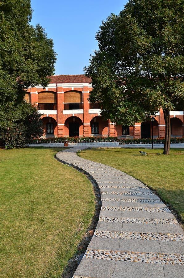 Red brick villa stock photography