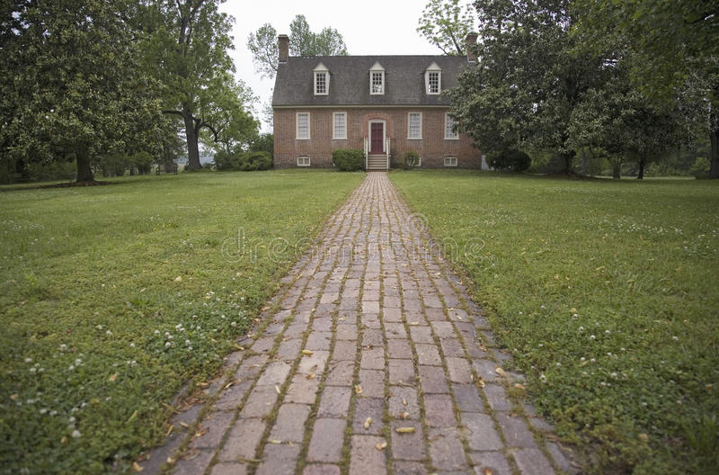 Red brick walkway leading to Smith s Fort Plantation