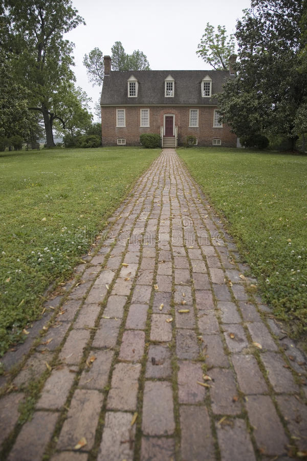 Download Red Brick Walkway Leading To Smith's Fort Plantation Stock Image - Image: 27072211