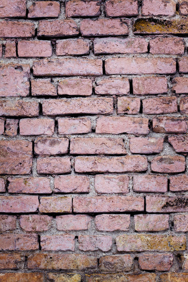 Red brick wall. Classic brick surface for decorative works or texture royalty free stock photos
