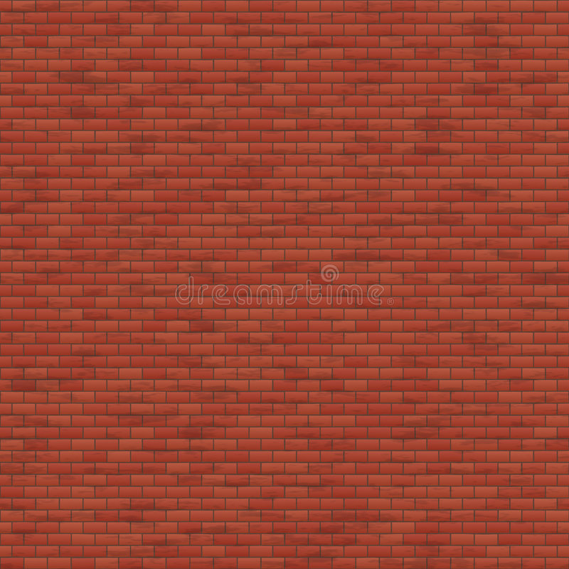 Red Brick Wall stock illustration