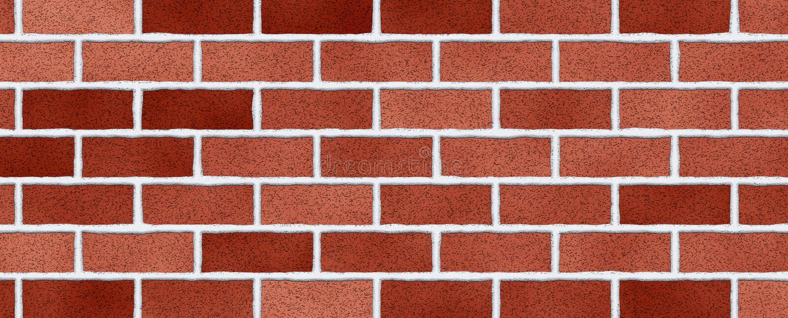 Red brick wall abstract background. Texture of bricks stock photo