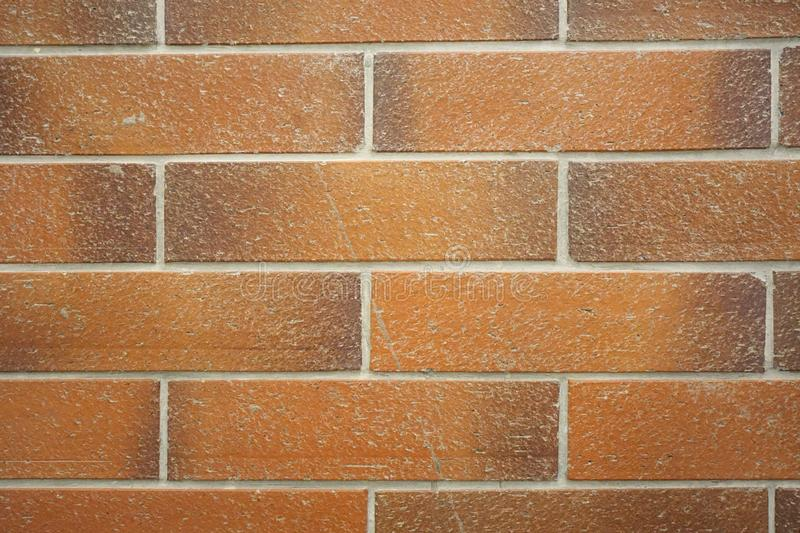 Red brick wall as a background, concrete texture, abstract background royalty free stock images