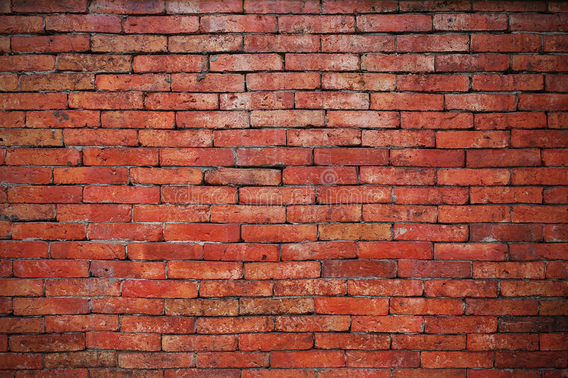 Red brick wall backgrounds royalty free stock photography