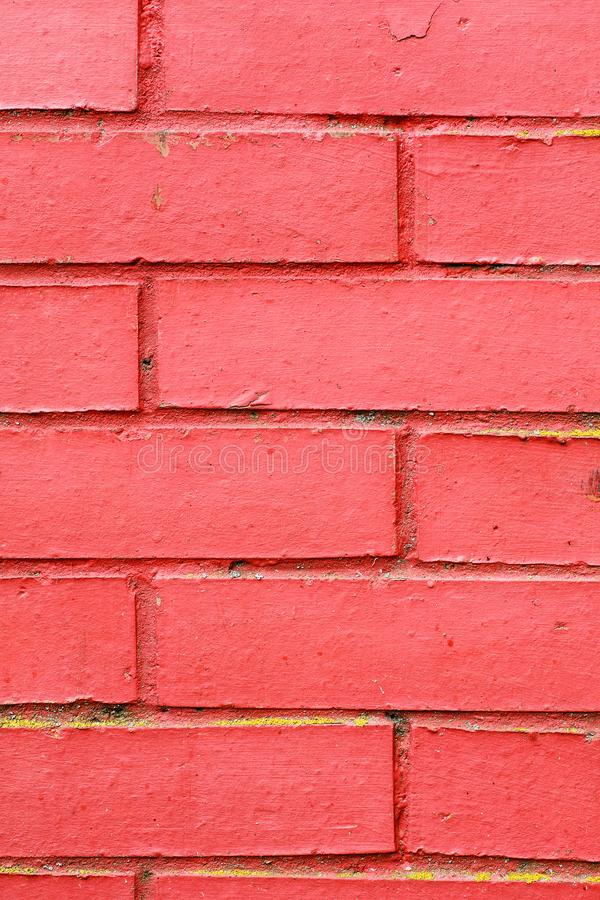 Red brick wall fragment, abstract texture, selective focus, vertical.  stock photos