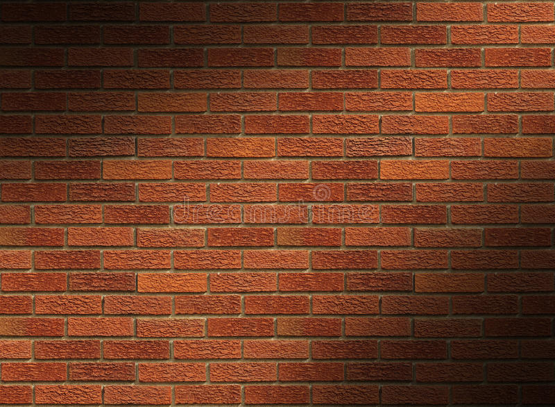 Download Red Brick Wall Lit Diagonally Stock Photo - Image: 14409072