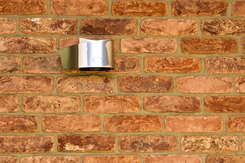 Red brick wall and modern light abstract detail royalty free stock image