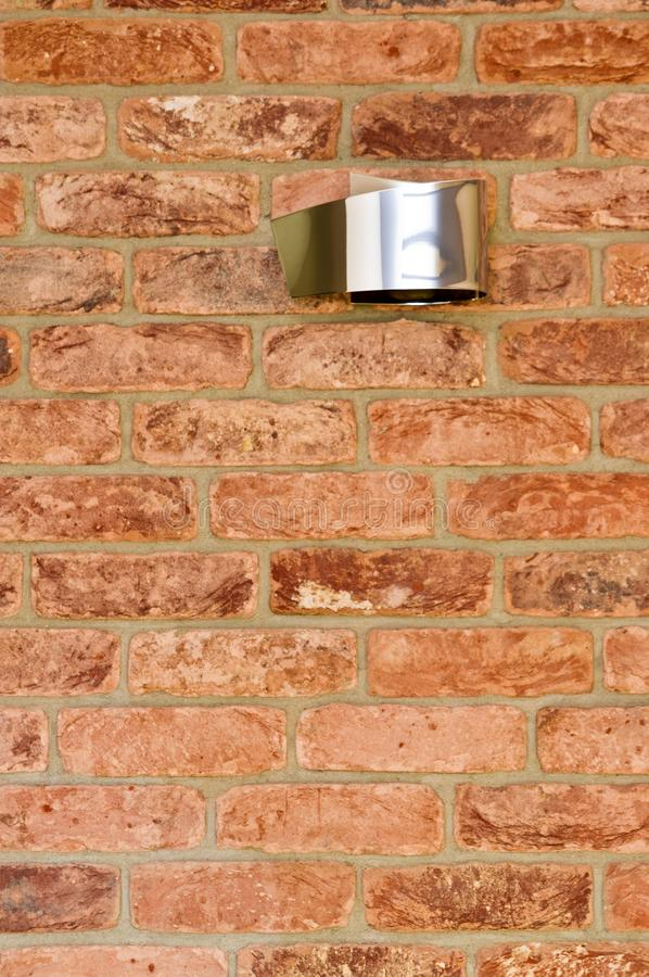 Red brick wall and modern light abstract detail royalty free stock images