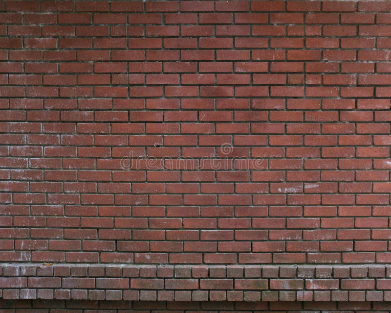 Red brick wall old royalty free stock image