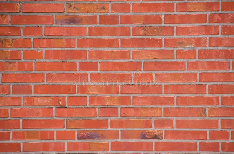 Red brick wall. red background stock photo