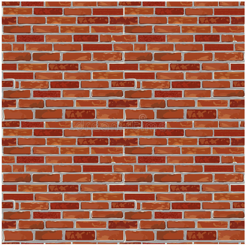 Download Red Brick Wall Seamless Vector Pattern Background Stock