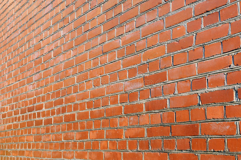 Download Red Brick Wall Side View Stock Image Of Masonry