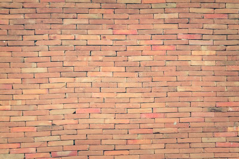 Red brick wall texture grunge background with vignetted corners, may use to interior design. stock image