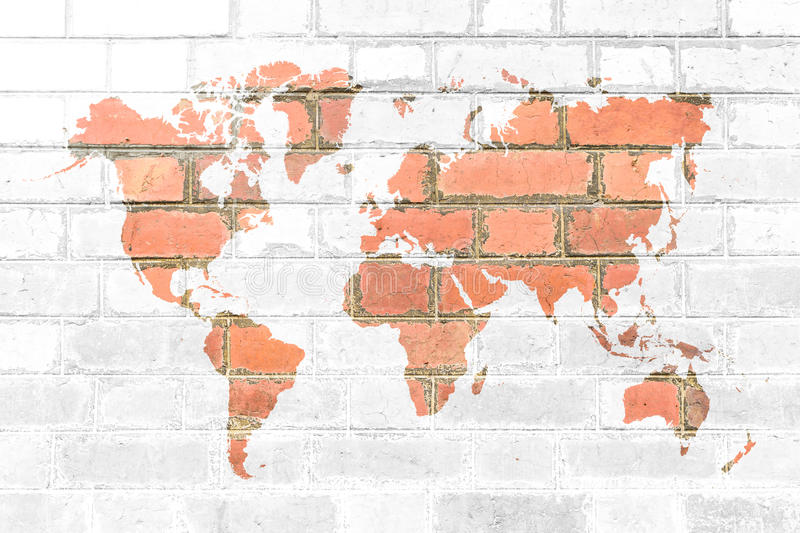 Red brick wall texture soft tone white color with world map stock download red brick wall texture soft tone white color with world map stock image image gumiabroncs Image collections
