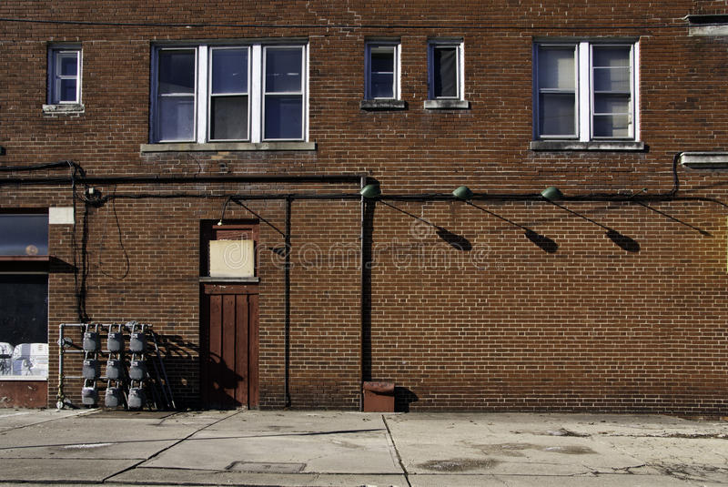 Download Red Brick Wall stock photo. Image of sidewalk, lights - 31366102