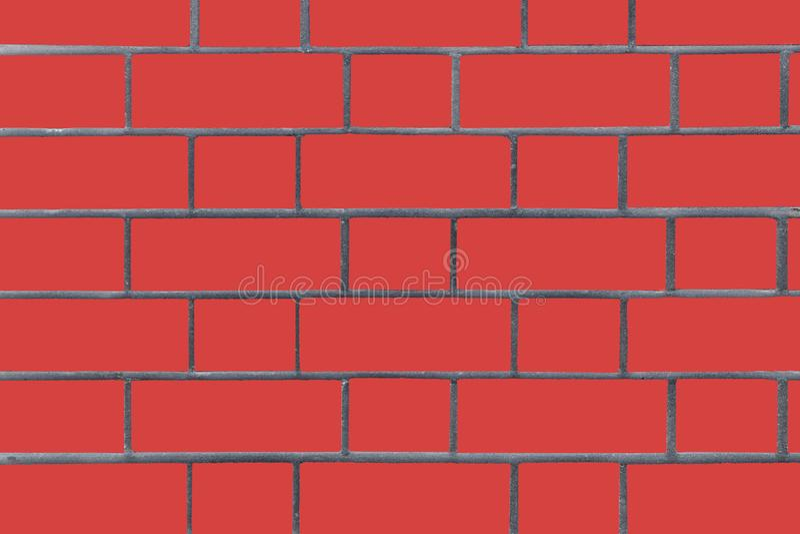 Red brick wall. Vector graphics. Background image of a brick wall. Textural abstract image royalty free stock photos