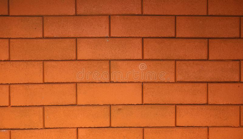 Red brick walls decorated with beautiful buildings stock photos
