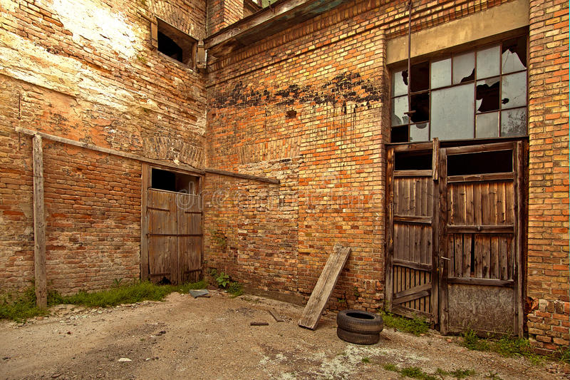 Red Brick Yard royalty free stock images