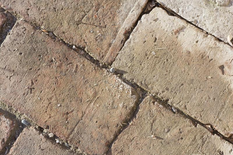 Red bricks over the floor. Pattern royalty free stock image