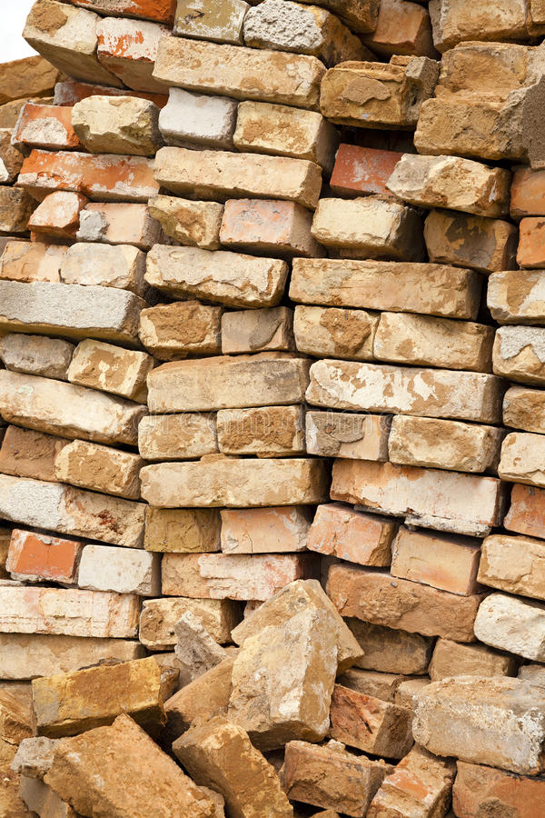 Download Red bricks stock photo. Image of demolished, objects - 35739792