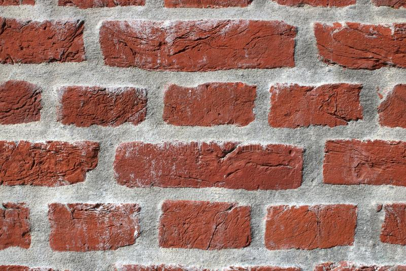 Red bricks in wall royalty free stock photo