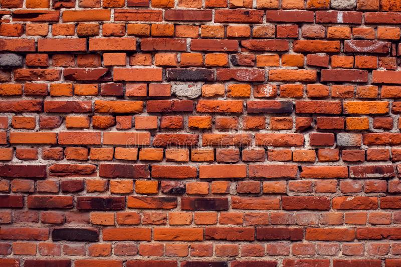 Red bricks wall background. Old building surface. Red vintage bricks wall background. Old building surface royalty free stock images