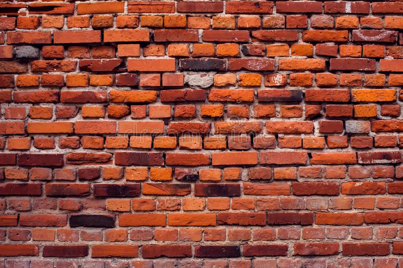Red bricks wall background. Old building surface. Red vintage bricks wall background. Old building surface royalty free stock photo
