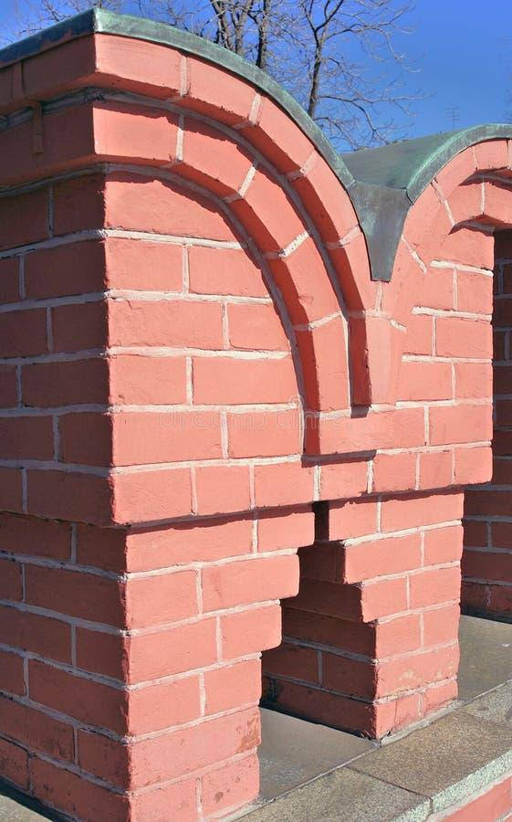 Red bricks wall. royalty free stock image