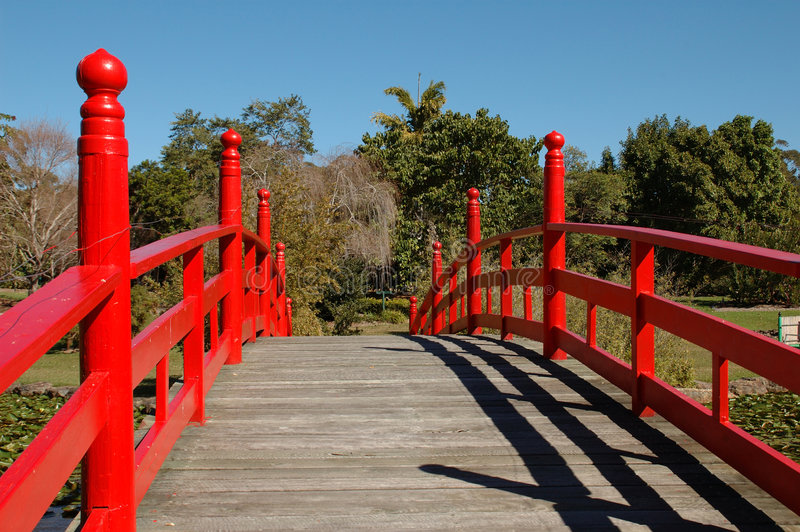 The Red Bridge stock photography