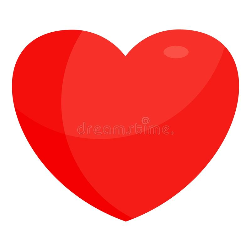 Red bright heart royalty free illustration