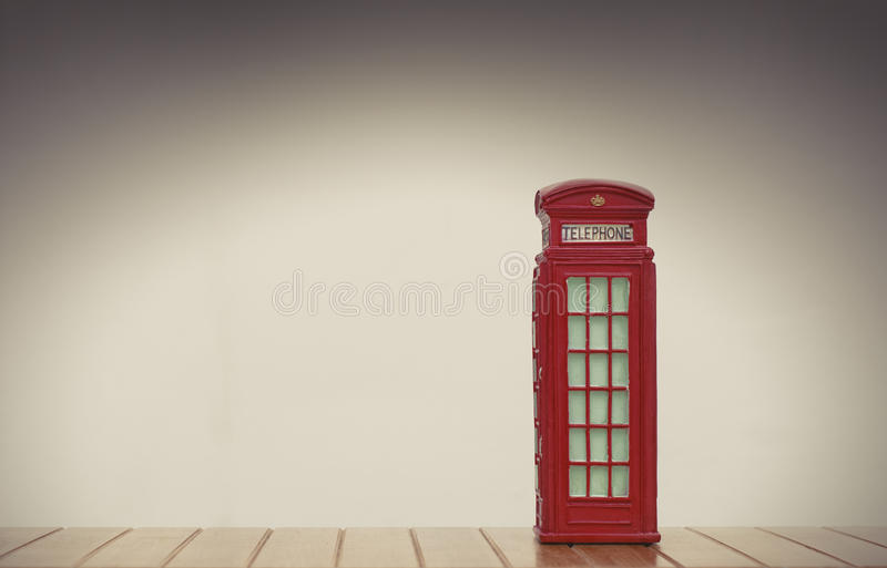 Red british phone booth stock photography