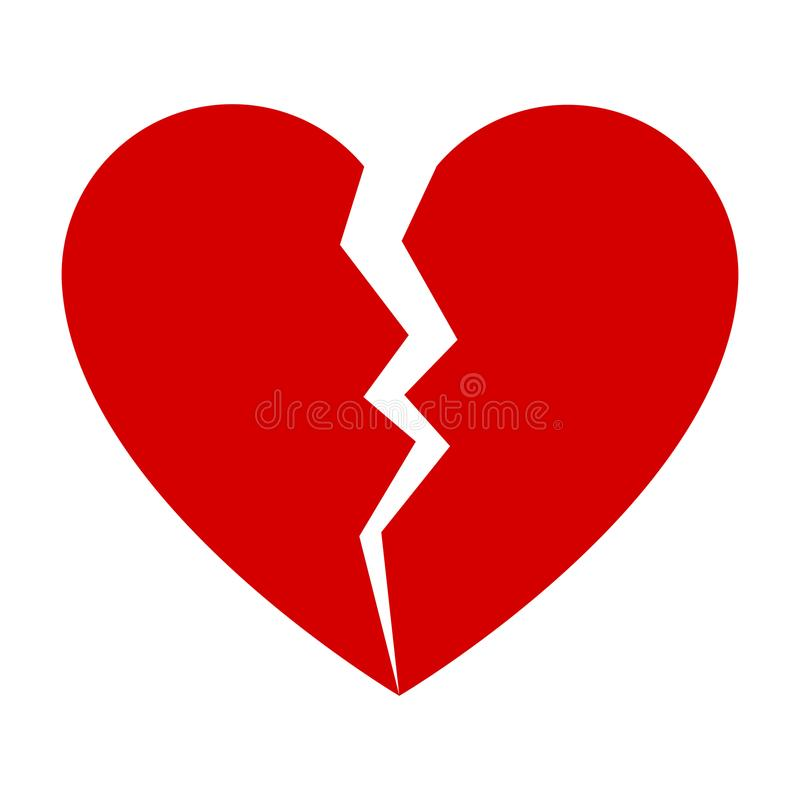 Free Red Broken Heart Stock Photography - 106020142