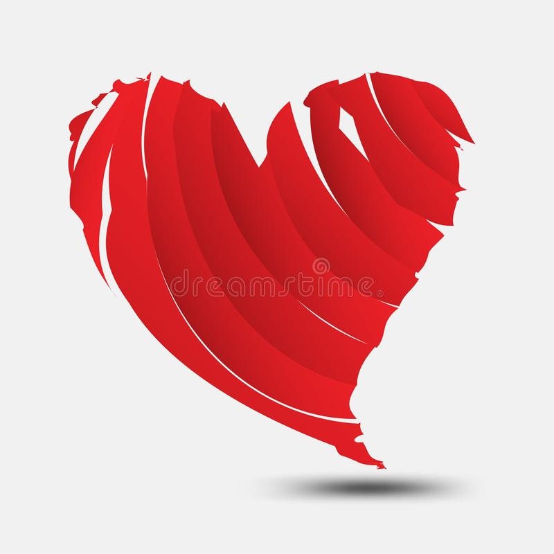 Red heart polygonal vector, heart icon, logo, flat icon for apps and website, love sign, valentine symbol, polygon graphic. Red broken heart vector, heart icon stock illustration