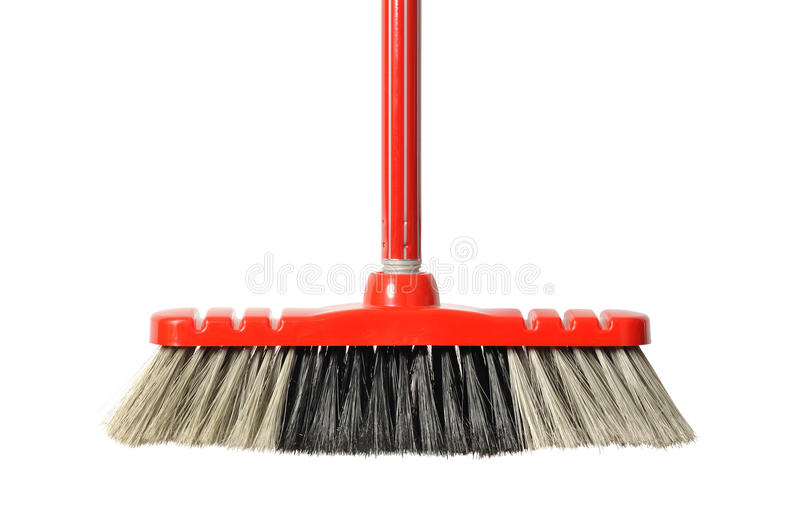 Red Broom stock image
