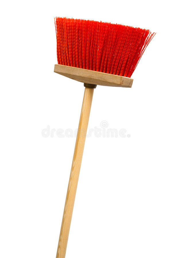 Download Red broom stock image. Image of cleaning, corridor, dirt - 8901753