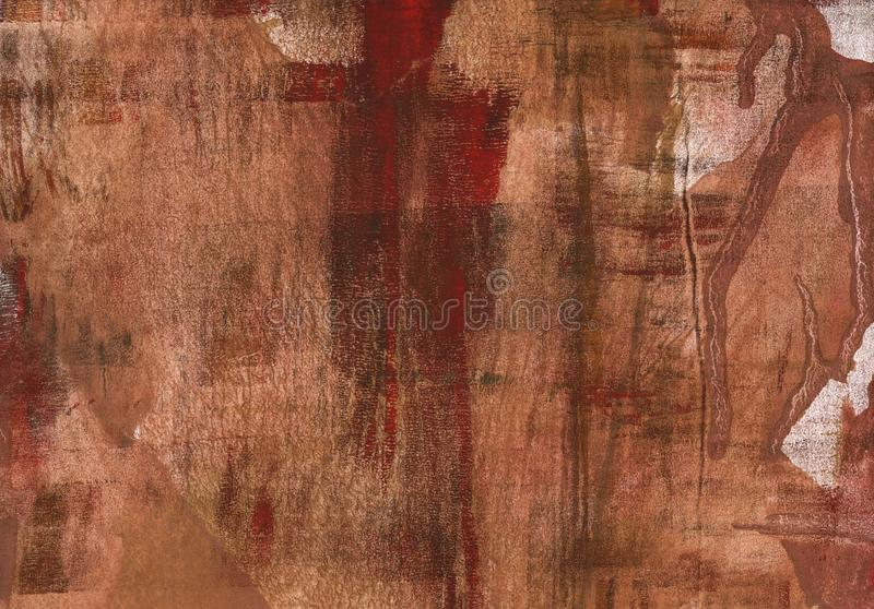 Red brown abstract painting background royalty free stock photography