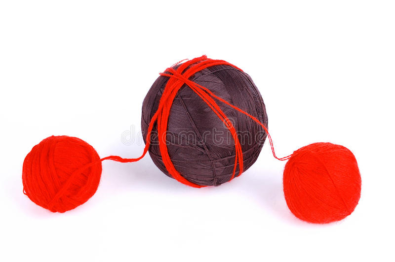 Red and brown balls stock photography
