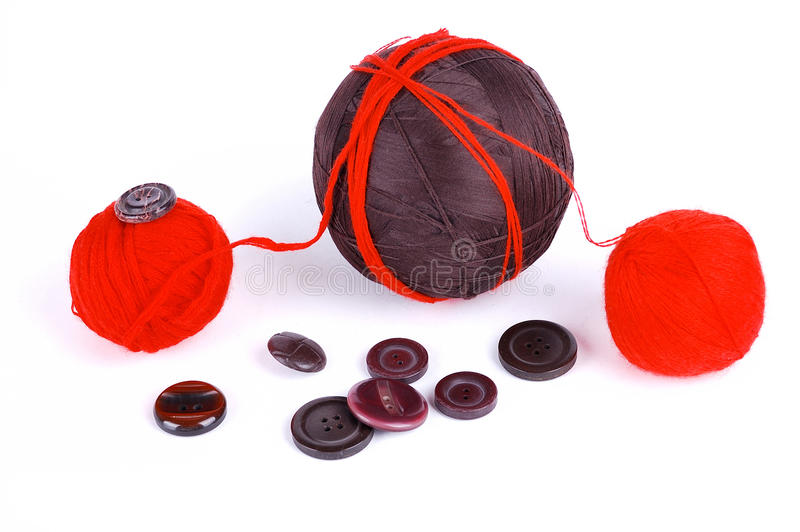 Red and brown balls royalty free stock photography