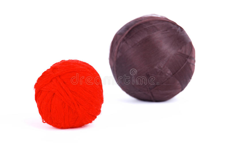 Red and brown balls stock photos
