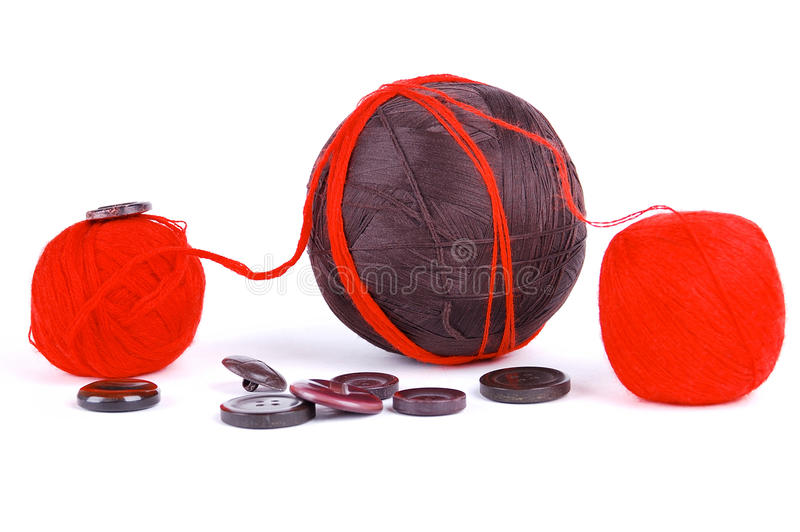 Red and brown balls royalty free stock image