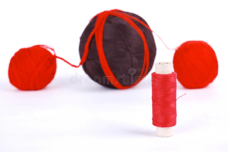 Red and brown balls stock photo
