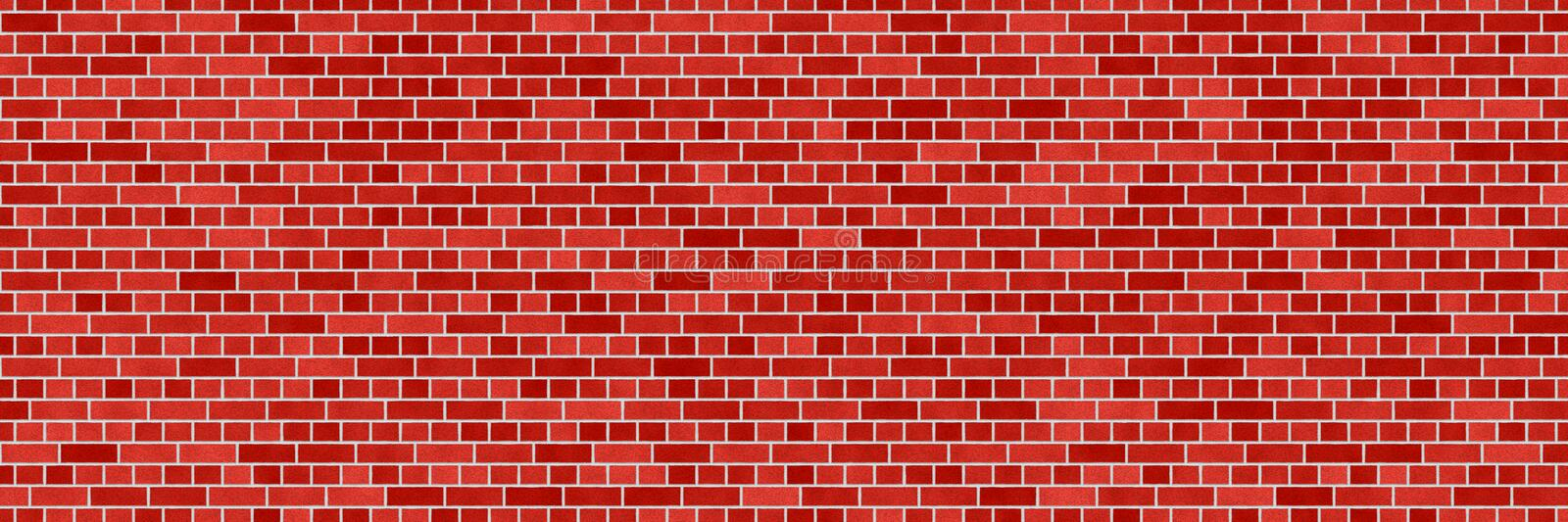 Red brown brick wall abstract background. Texture of bricks. Decorative stone. Realistic wide illustration. Template design for web banners vector illustration