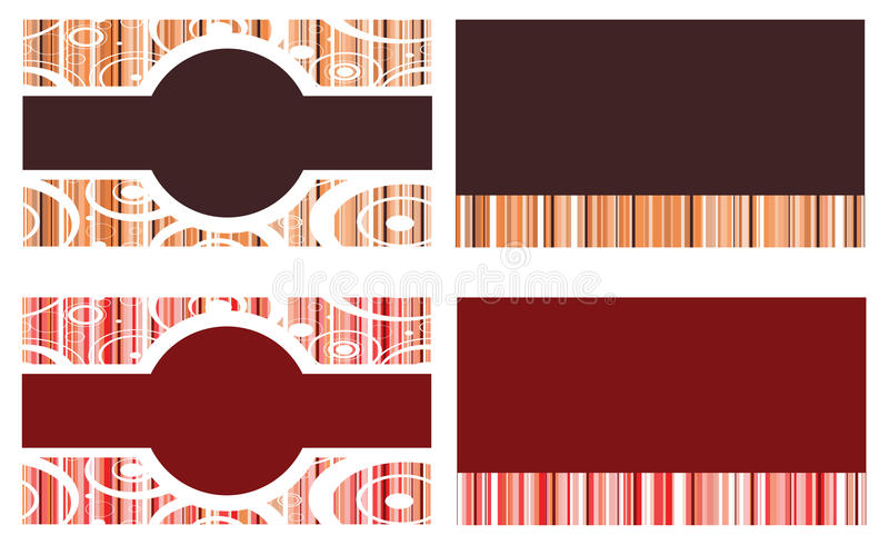Download Red Brown Business Cards Stock Photography - Image: 23618102