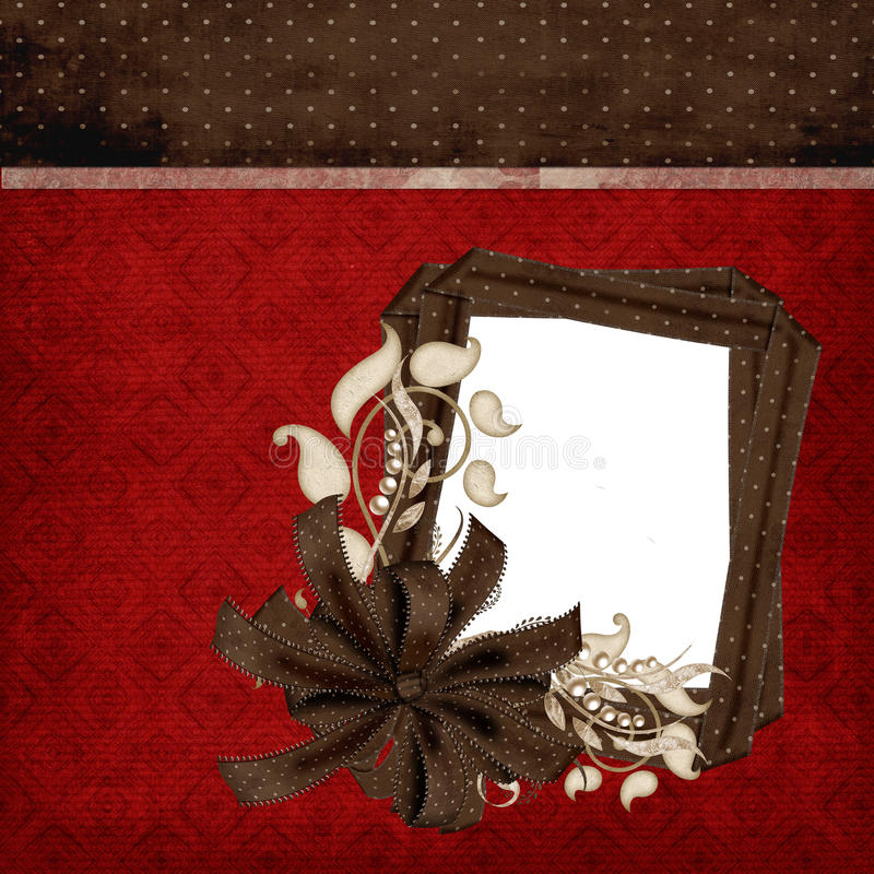 Red & Brown Elegant Scrapbook Page