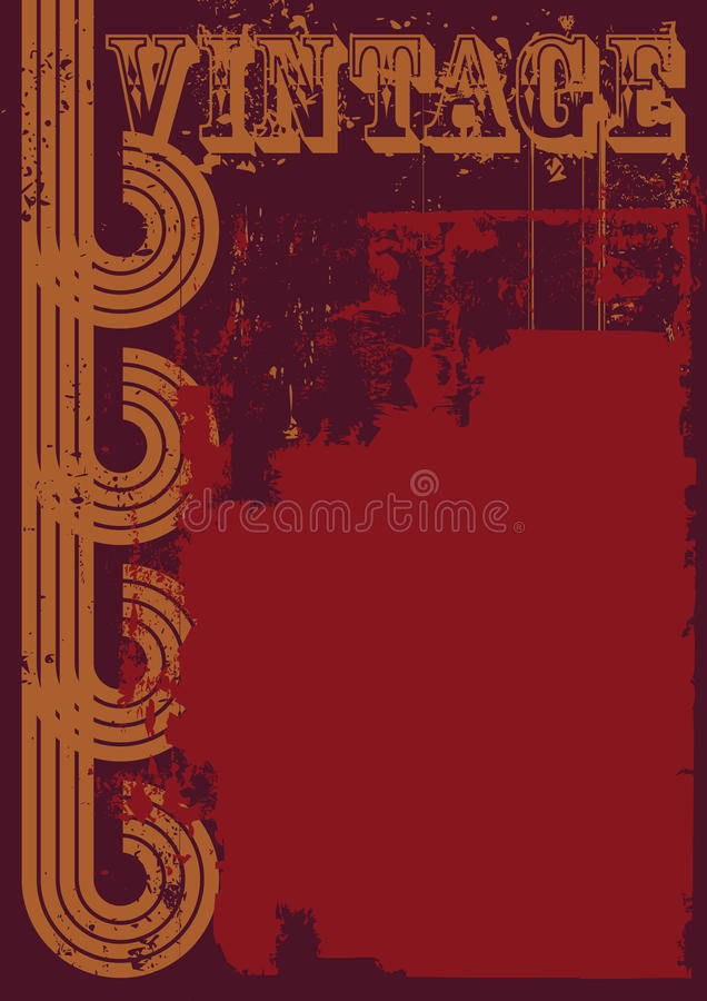Red and brown grunge vintage background royalty free stock image
