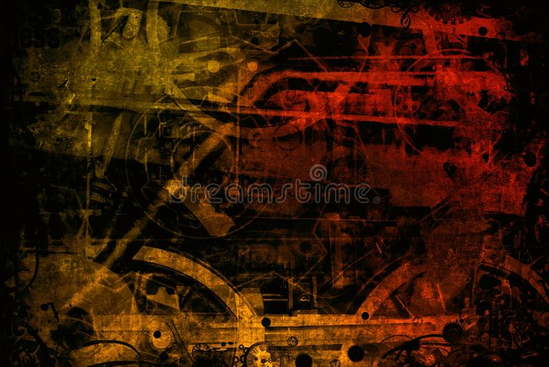 Download Red Brown Industrial Machines Background Stock Photo - Image: 31681126
