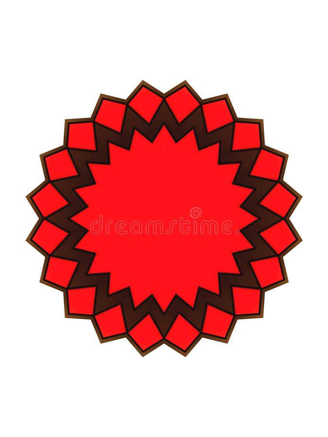 Red brown shape stock photography